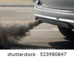 air pollution from vehicle... | Shutterstock . vector #523980847