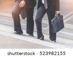 businessman and business woman... | Shutterstock . vector #523982155