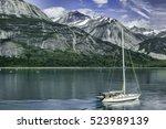 Abstract Of Sailboat Motoring...
