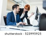 hashing out some ideas together. | Shutterstock . vector #523995925