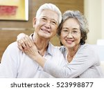 portrait of a loving asian... | Shutterstock . vector #523998877