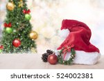 christmas table with... | Shutterstock . vector #524002381