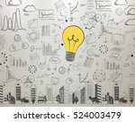 idea wall light bulb  concept... | Shutterstock . vector #524003479