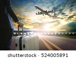 business man and traveling... | Shutterstock . vector #524005891