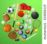 sport lover   sport equipment... | Shutterstock .eps vector #524006119