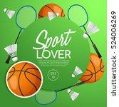 sport lover   sport equipment... | Shutterstock .eps vector #524006269