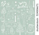 christmas set of design... | Shutterstock .eps vector #524006671