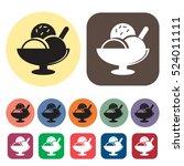 ice cream icons set.vector... | Shutterstock .eps vector #524011111