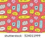 cute speech bubble seamless... | Shutterstock . vector #524011999