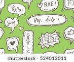 cute speech bubble seamless... | Shutterstock . vector #524012011