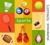 sport lover   sport equipment... | Shutterstock .eps vector #524012371
