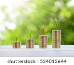 saving coins money concept and... | Shutterstock . vector #524012644