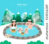 winter story | Shutterstock .eps vector #524016289