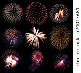 firework collection and... | Shutterstock . vector #524017681