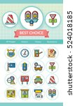 icon set traffic vector | Shutterstock .eps vector #524018185