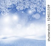 winter background. christmas... | Shutterstock . vector #524021539