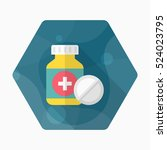 medicine bottles icon   vector... | Shutterstock .eps vector #524023795