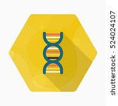 genome icon   vector flat long... | Shutterstock .eps vector #524024107
