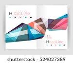 unusual abstract corporate... | Shutterstock .eps vector #524027389