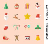 set of christmas flat icon....   Shutterstock .eps vector #524028295