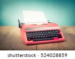 retro old typewriter from 70s... | Shutterstock . vector #524028859
