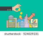 flat line illustration design... | Shutterstock .eps vector #524029231