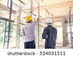 two business man construction... | Shutterstock . vector #524031511