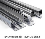 rolled metal  assortment of the ... | Shutterstock . vector #524031565