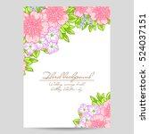 romantic invitation. wedding ... | Shutterstock .eps vector #524037151