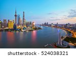 shanghai city architectural... | Shutterstock . vector #524038321