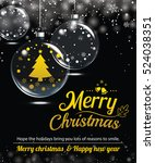 happy holiday greeting banner... | Shutterstock .eps vector #524038351