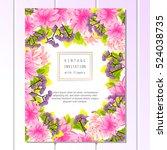vintage delicate invitation... | Shutterstock .eps vector #524038735