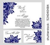 vintage delicate invitation... | Shutterstock .eps vector #524040484