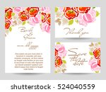 vintage delicate invitation... | Shutterstock .eps vector #524040559