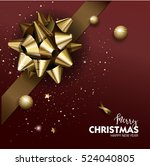 elegant merry christmas or... | Shutterstock .eps vector #524040805