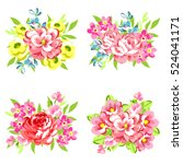 flower set | Shutterstock .eps vector #524041171