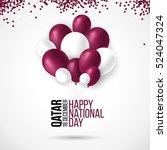 18 december qatar national day... | Shutterstock .eps vector #524047324