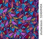 geometric ethnic pattern design ... | Shutterstock .eps vector #524049454