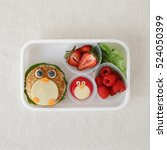 penguin healthy lunch box  fun... | Shutterstock . vector #524050399