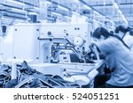 labor force work in the garment ...   Shutterstock . vector #524051251
