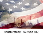 Double Exposure Of Usa. Flag...