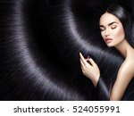 beautiful long hair. beauty... | Shutterstock . vector #524055991
