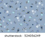 ditsy floral pattern with small ... | Shutterstock .eps vector #524056249