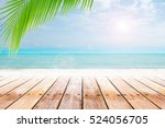 old wood table top on blurred... | Shutterstock . vector #524056705