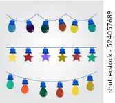 christmas light   Shutterstock .eps vector #524057689