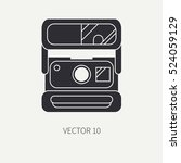 silhouette flat vector icon... | Shutterstock .eps vector #524059129
