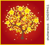 vector illustration of a yellow ... | Shutterstock .eps vector #524059411