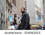 attractive young african... | Shutterstock . vector #524062015