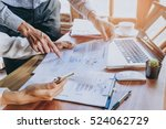 business team analyzing income... | Shutterstock . vector #524062729