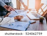 business team analyzing income... | Shutterstock . vector #524062759